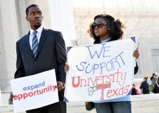 Affirmative Action Supporters Rally at Supreme Court