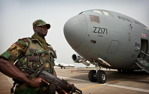 U.K. flies Ghana troops, kit to Mali