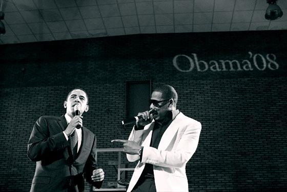 President Obama and Jay-Z: strange bedfellows during gun ban debate