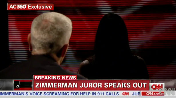 Zimmerman Juror: Travyon 'Played a Huge Role' in Own Death
