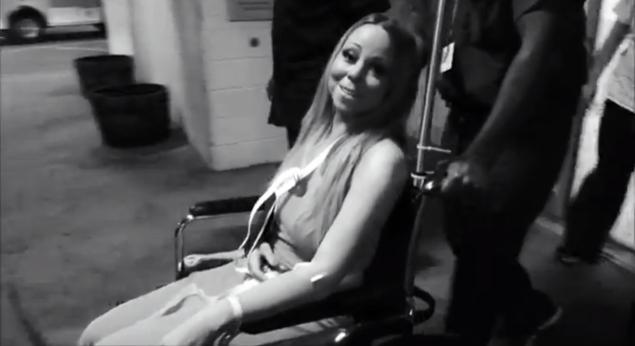 Mariah Carey Leaves Hospital in Sling: Watch Now!