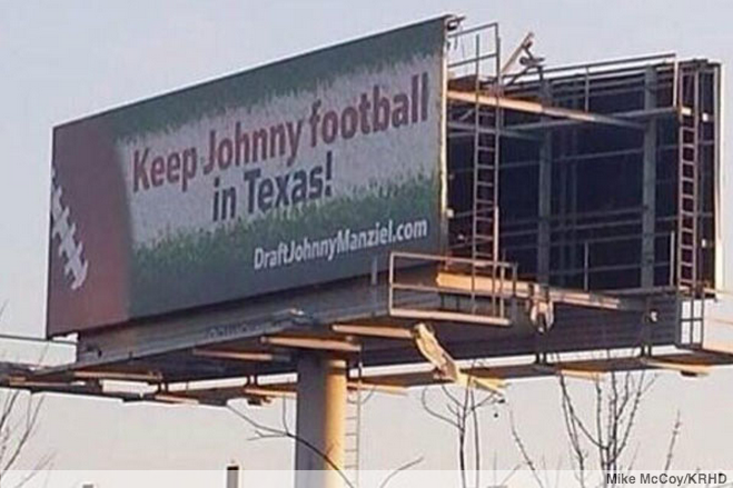 LOOK: Texas Billboard Wants Houston to Draft Johnny Manziel