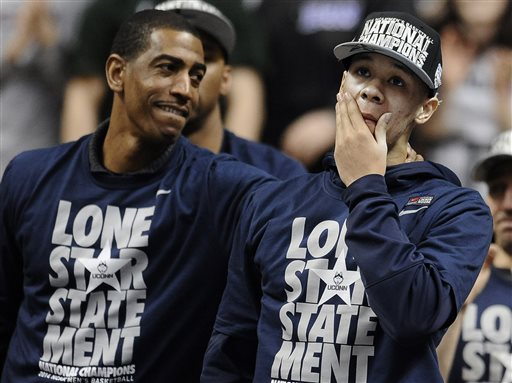 UConn Partying Links Twin National Title Victories