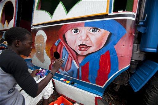 Soccer Stars Decorate Haiti's Minibuses
