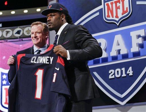 NFL DRAFT: Texans Pick Clowney; Manziel to Browns