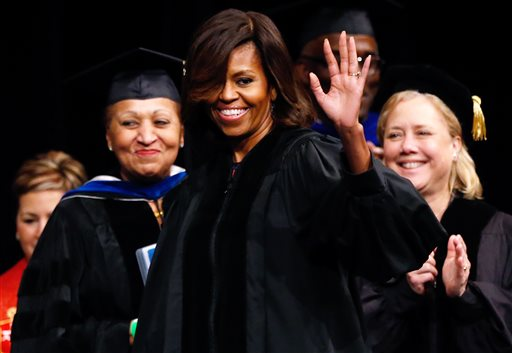 First Lady Tells Dillard Grads to Stay Hungry