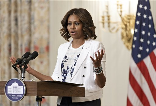 First Lady Tells America to 'Drink Up' More Water