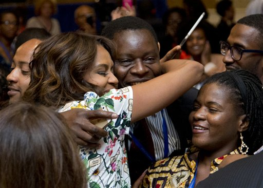 First Lady Asks Leaders to Change Gender Attitudes