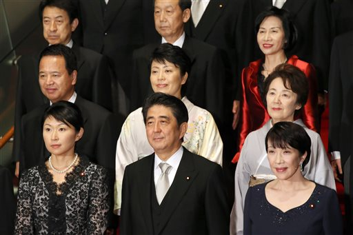 5 Women Named to Japan's Cabinet, Tying Past High
