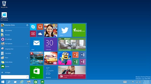 Windows 10 Tries Blending New with Familiar