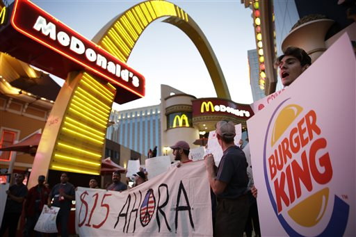 Fast-Food Protesters Cuffed at Higher-Pay Rallies