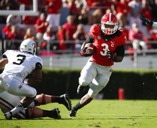 No. 13 Georgia RB Gurley Suspended Indefinitely
