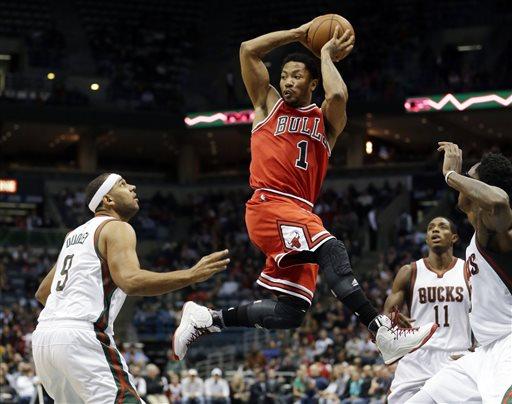 Rose Returns, Bulls Beat Bucks 95-86