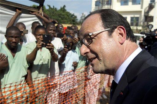 France's President Francois Hollande Visits Ebola-Stricken Guinea