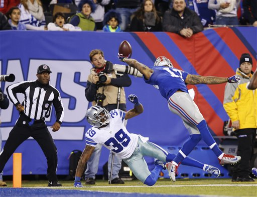 Giants' Odell Beckham Jr. Makes Incredible One-Handed Touchdown Catch