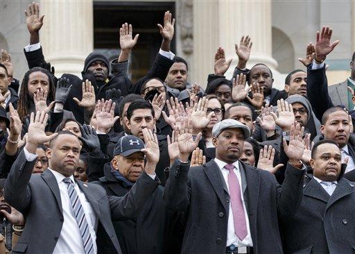 US Capitol Staffers Raise Their Hands for Ferguson