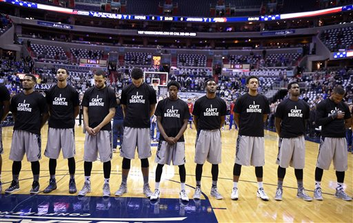Georgetown Players Stage 'I Can't Breathe' Protest