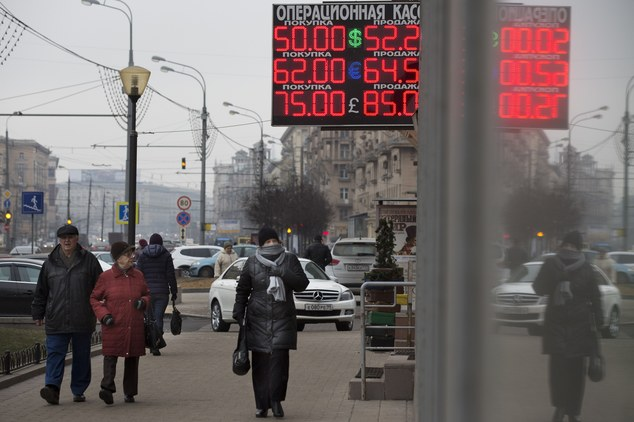 Ruble Hits New Record Low; Europe Stocks Higher