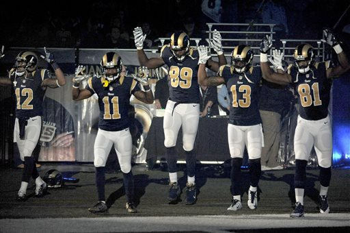 St. Louis Police Group Demands Punishment for Rams Players in Ferguson Protest