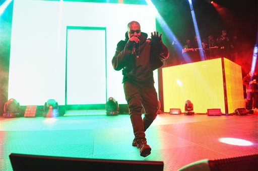 Watch Kanye West Debut Fiery 'All Day' at BRIT Awards