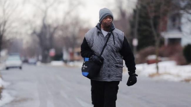 Police Help Hard-Walkin' Detroiter Move to Safer Home