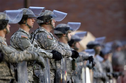 Missouri National Guard's Term for Ferguson Protesters: 'Enemy Forces'