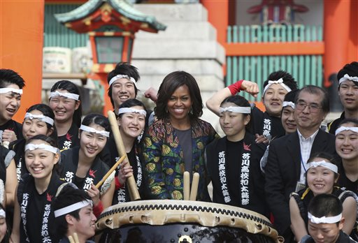 US 1st Lady Gets Taste of Japan's Ancient Culture in Kyoto