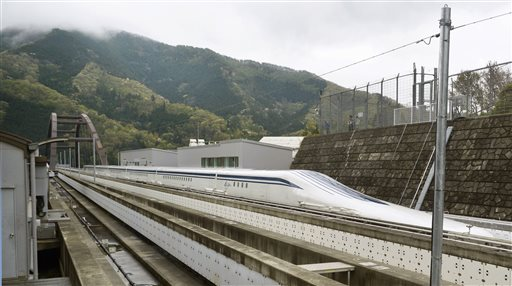 Bullet Train Hits Tracks at 603 KPH