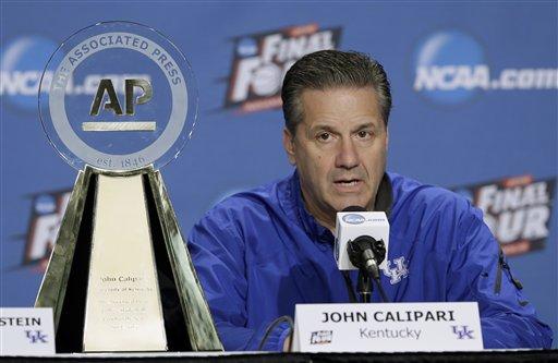 Kentucky's John Calipari Chosen AP Coach of the Year