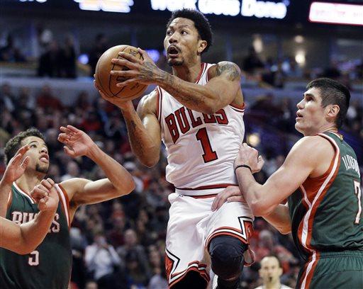 Rose Scores 23, Bulls Beat Bucks 103-91