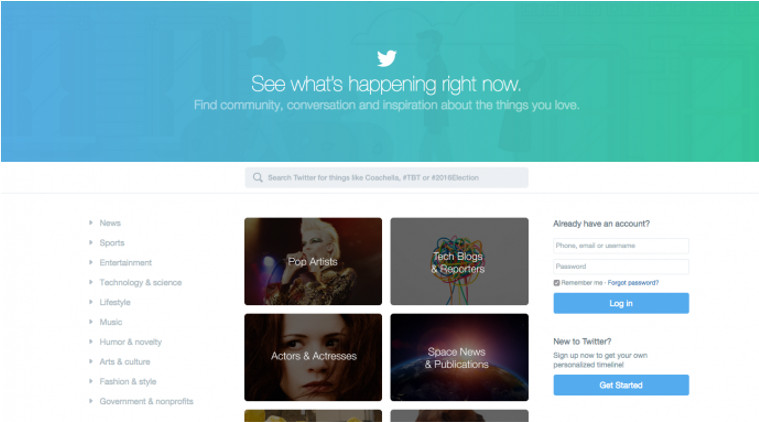 Twitter Introduces New Homepage, Will Show Categories and Tweets