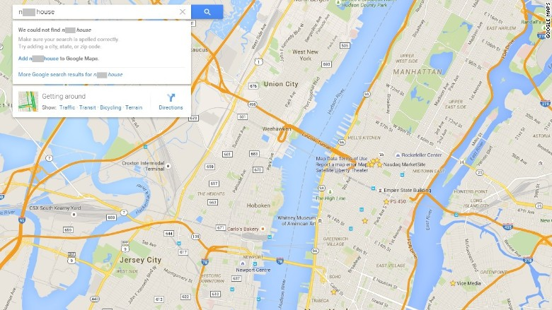 Google Maps Fixes N-Word Problem for Most Users