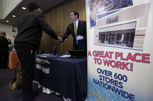 US Employers Add Solid 223K Jobs; Rate 5.4 pct., 7-Year Low
