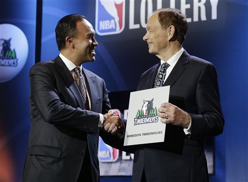 Timberwolves Win Draft Lottery, Lakers Move to No. 2