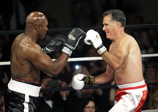 Evander Holyfield Beats Mitt Romney in the Most Ridiculous Fight of the Year