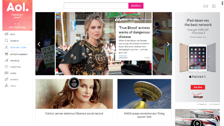 AOL Redesigns Website to Cater to Mobile Users