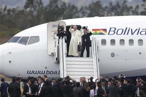 Pope's 'Homecoming' Tour Moves from Ecuador to Bolivia