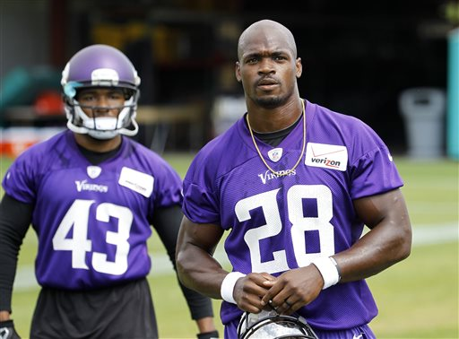 Adrian Peterson Back in Pads and Moving Forward with Vikings