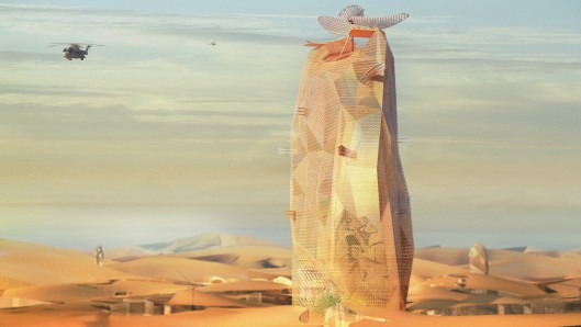 French Architect Firm Designs a Sustainable Vertical City to Be Installed in the Sahara Desert