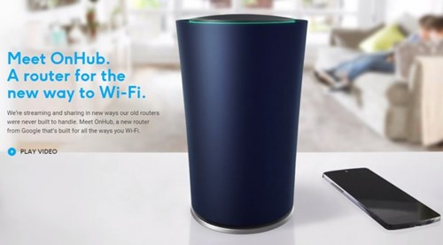 Google Announces OnHub, a WiFi Router That Gets Rid of Wires and Flashing Lights