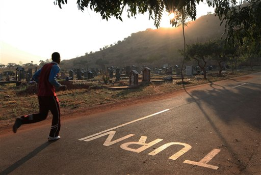 In Zimbabwe, a Cemetery Has Become an Exercise Hotspot