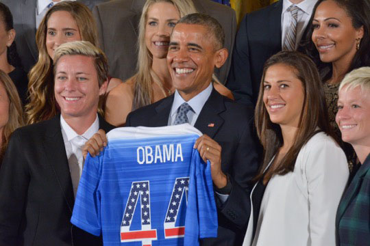 Obama Says Women's Soccer Team Taught Nation Lesson
