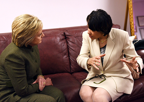 Hillary Clinton Tours Flint, Michigan