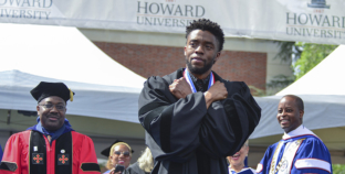 """""""Black Panther"""" Chadwick Boseman Returns to Howard University for 2018 Commencement Address"""