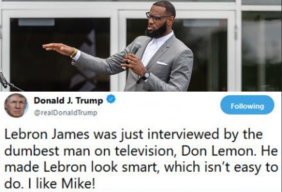 Steph Curry, Michael Jordan and More Sound off on Trump's Insult to LeBron
