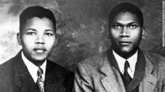 A portrait with his cousin Bikitsha (right), dating from around 1941, when Mandela would have been about 23. (Courtesy of CNN)