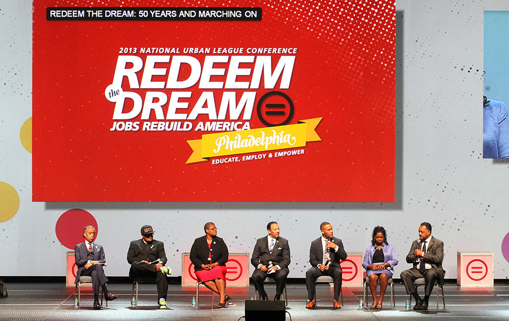 "National Urban League's ""Redeem the Dream"" panel (NUL Photo by Lawrence Jenkins)"