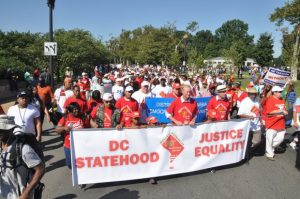 Hundreds turned out for the D.C. Statehood Rally and March on Saturday, Aug. 24 at the District of Columbia War Memorial. 9Photo courtesy Roy Lewis/Washington Informer)