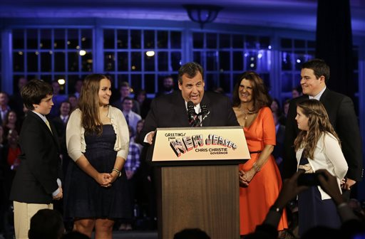 Chris Christie, Mary Pat Christie, Andrew Christie, Sarah Christie, Patrick Christie, Bridget Christie