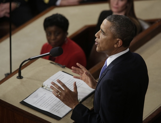 President Obama delivering 2014 State of the Union speech (White House photo).